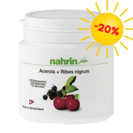 Acerola + Melnās upenes, dabīgs C vitamīns, mazina vitamīnu trūkumu, stiprina organismu, imunitātei. 60tabletes/120g