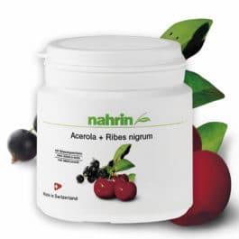 Acerola + Melnās upenes, dabīgs C vitamīns, imunitātei. 60tabletes/120g