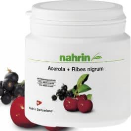 Acerola + Melnās upenes, dabīgs C vitamīns, mazina vitamīnu trūkumu, organisma stiprināšanai. 60dražejas/120g