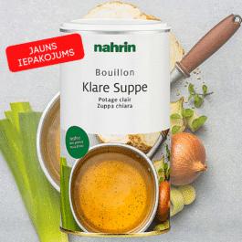 Бульон, легкий овощной суп с морской солью. 400 г