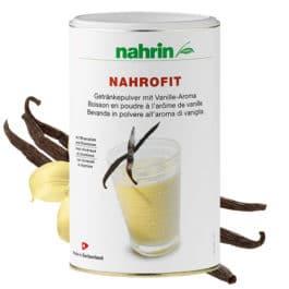 Nahrofit vaniļas dzēriens ar olbaltumvielām, vitamīniem un minerālvielām. 470g
