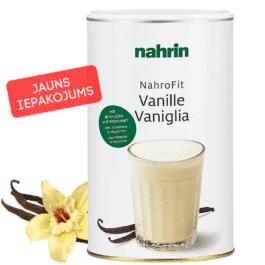 NAHROFIT vaniļas dzēriens, svara samazināšanai, ēdienreizes aizstāšanai. 470g