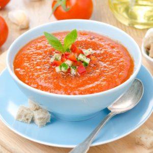 Gazpacho recepte vasaras zupai