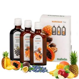 Narosan TRIO dabīgi vitamīni, mazina vitamīnu trūkumu, stiprina organismu, imunitātei. 3x125ml